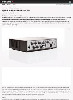 Bonedo.de Aguilar Tone Hammer 500