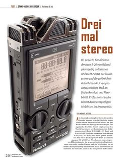 Professional Audio TEST STAND-ALONE-RECORDER Roland R-26