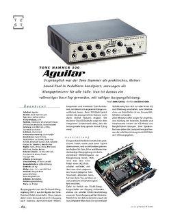 Gitarre & Bass Aguilar Tone Hammer 500, Bass-Top