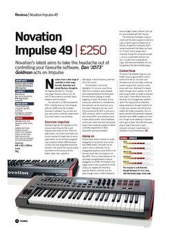 Future Music Novation Impulse 49