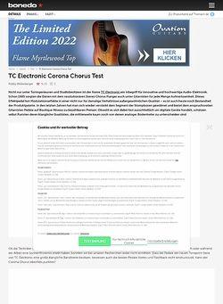 Bonedo.de TC Electronic Corona Chorus