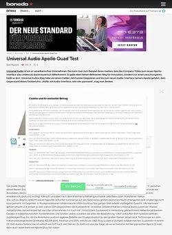 Bonedo.de Universal Audio Apollo Quad
