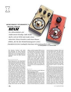 Gitarre & Bass MXR Berzerker Overdrive & Wylde Phase, Effekte