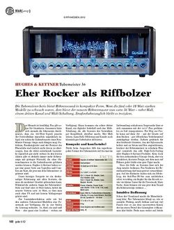 guitar gear Amp - Hughes & Kettner Tubemeister 36