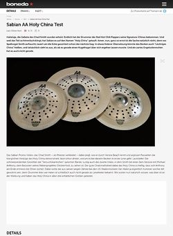 Bonedo.de Sabian AA Holy China