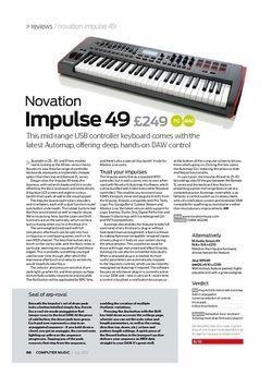 Computer Music Novation Impulse 49