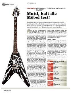 Guitar gear E-Gitarre - Epiphone Robb Flynn Love/Death Baritone Flying