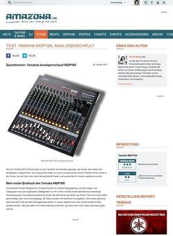 Amazona.de Test: Yamaha, MGP16X, Mixing Console