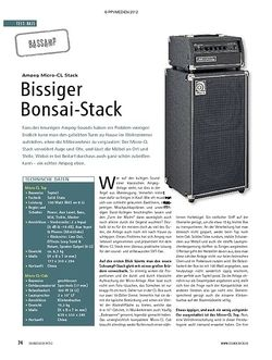 Soundcheck Test Bassamp: Ampeg Micro-CL Stack