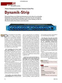 KEYS Test: Samson S-Com Plus - Dynamik-Strip