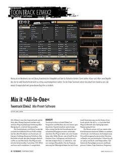 Sound & Recording Toontrack EZmix2: Mix-Preset-Software