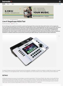 Bonedo.de Test-Preview: Line 6 StageScape M20d