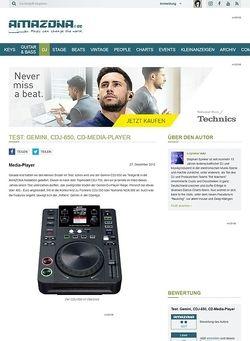 Amazona.de Test: Gemini, CDJ-650, CD-Media-Player