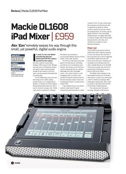 Future Music Mackie DL1608 iPad Mixer