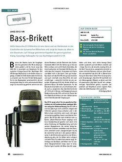 Soundcheck Test Mikrofon: AKG D12 VR