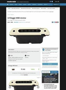 MusicRadar.com LR Baggs M80