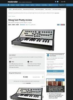 MusicRadar.com Moog Sub Phatty