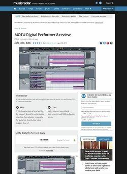 MusicRadar.com MOTU Digital Performer 8
