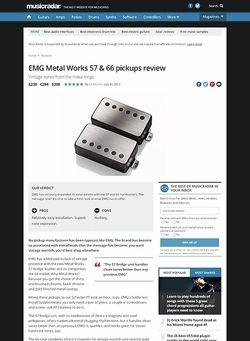 MusicRadar.com EMG Metal Works 57 & 66 pickups