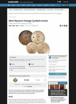 MusicRadar.com Meinl Byzance Vintage Cymbals