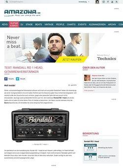 Amazona.de Test: Randall RD 1 Head, Gitarrenverstärker