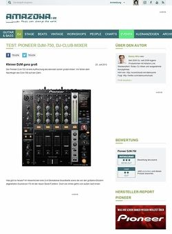 Amazona.de Test: Pioneer DJM-750, DJ-Club-Mixer