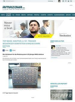 Amazona.de Top News: Doepfer, A-157, Trigger Sequencer Subsystem & MAQ16/3 Dark Edition