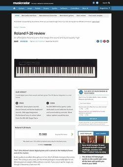 MusicRadar.com Roland F-20