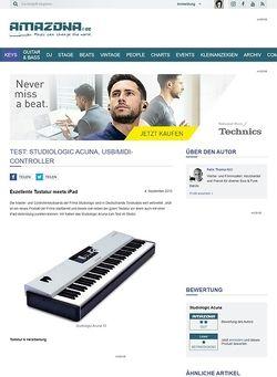 Amazona.de Test: Studiologic Acuna, USB/MIDI-Controller