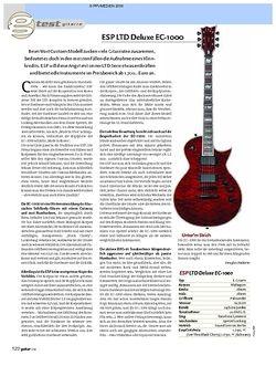 Guitar Test: ESP LTD Deluxe EC-1000