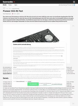 Bonedo.de Pioneer XDJ-R1 Test