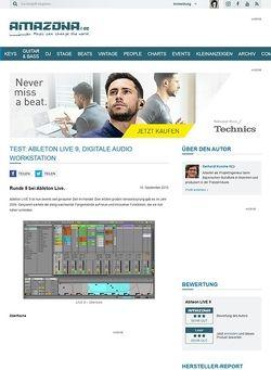 Amazona.de Test: Ableton LIVE 9, Digitale Audio Workstation