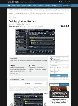 MusicRadar.com Steinberg HALion 5