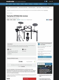 MusicRadar.com Yamaha DTX562 Kit