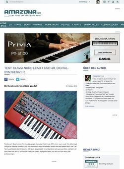 Amazona.de Test: Clavia Nord Lead 4 Keyboard & Rack, Digital Synthesizer