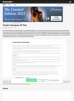 Bonedo.de Fender Champion 40 Test