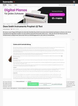 Bonedo.de Dave Smith Instruments Prophet-12 Test