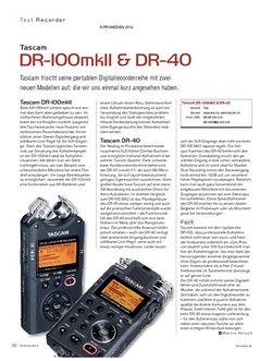 KEYS Tascam DR-100mkII & DR-40