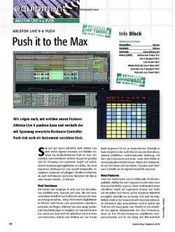 Recording Magazin Ableton Live 9 & Push