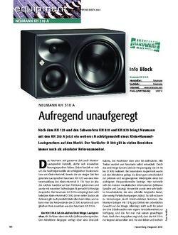 Recording Magazin Neumann KH 310 A