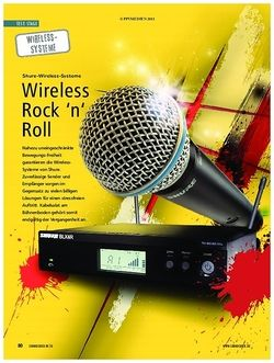 Soundcheck Shure Wireless Systeme