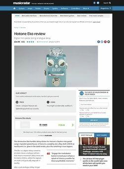 MusicRadar.com Hotone Eko