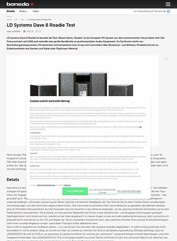 Bonedo.de LD Systems Dave 8 Roadie Test