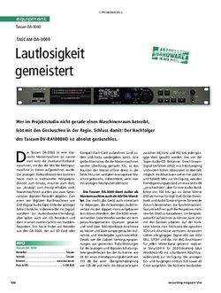 Recording Magazin Tascam DA-3000