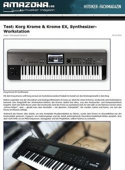 Amazona.de Test: Korg Krome, Keyboard Workstation