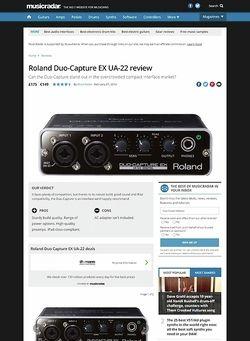MusicRadar.com Roland Duo-Capture EX UA-22