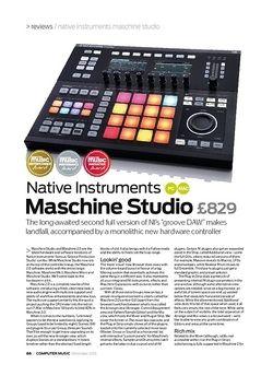 Computer Music Native Instruments Maschine Studio