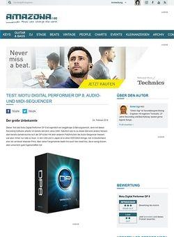 Amazona.de Test: Motu Digital Performer DP 8, Audio- und MIDI-Sequencer