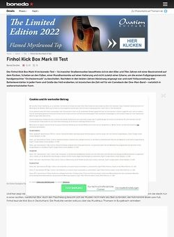 Bonedo.de Finhol Kick Box Mark III Test
