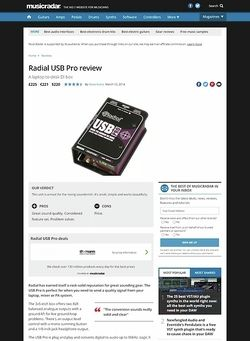 MusicRadar.com Radial USB Pro